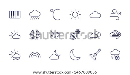 Cloud and weather note illustration - Download Free Vector