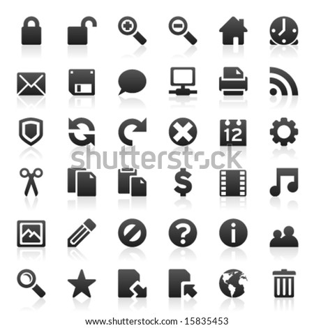 Set of 36 web and internet icons - stock vector