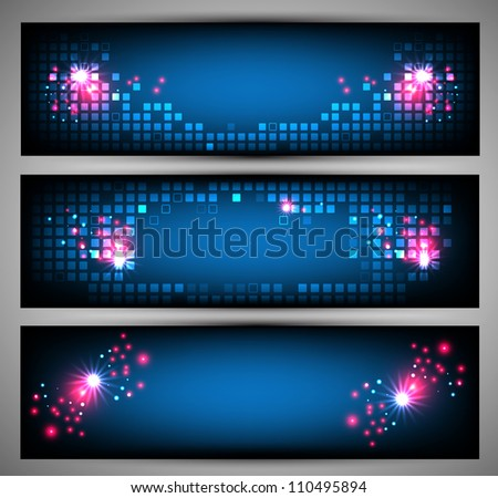 Set of web banners. Vector