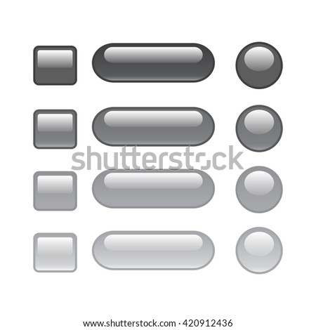 set of web button grey