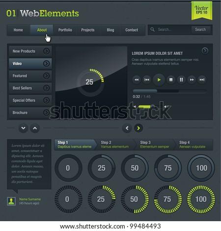 Set of web elements
