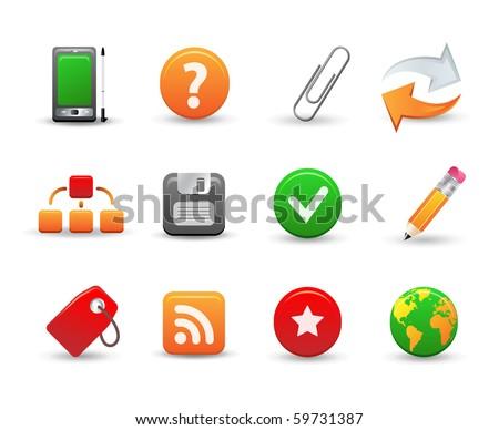 Set of 12 web icons