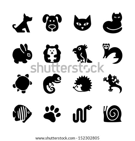 Set Of Web Icons. Pet Shop, Types Of Pets.