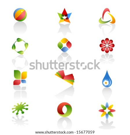 Set of Web Icons. Vector.