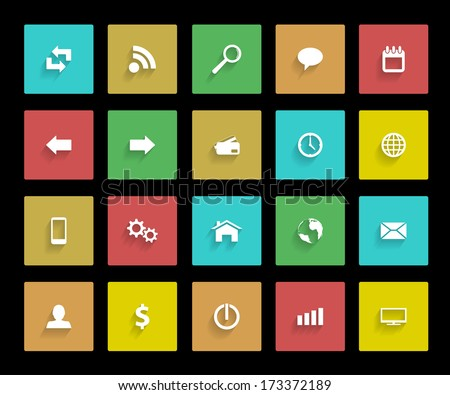 set of web icons, vector eps 10 illustration
