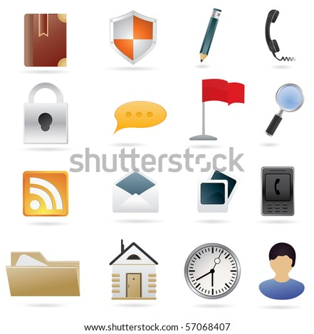 Set of Web Icons Vector illustration for your design