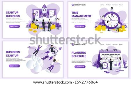 set of web page design