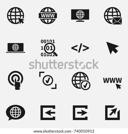 Set of web site vector icons.