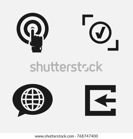 Set of web site vector   icons