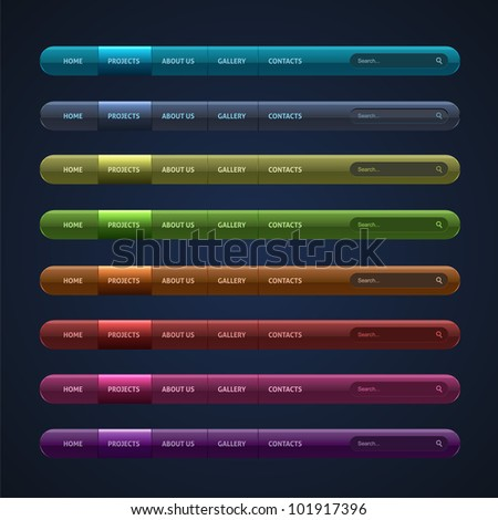 Set of 8 website buttons you can use this template to Where can i make a website