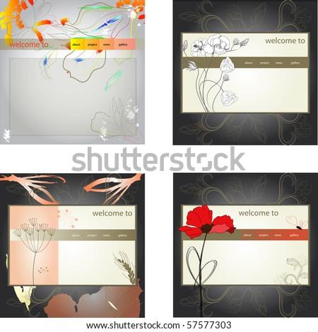 Set of website design template, eps10