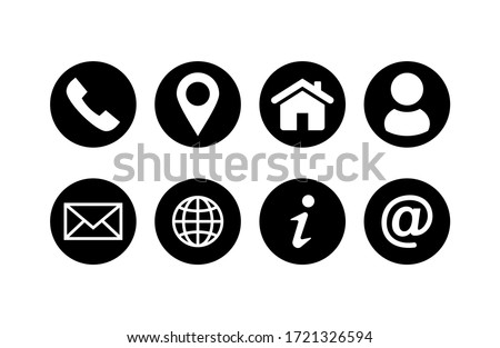 Set of Website icon vector. Communication icon symbol