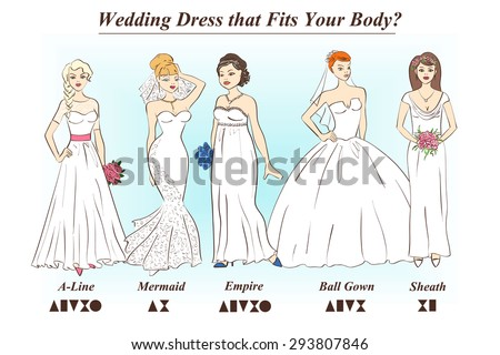 Wedding Dress Outline Template