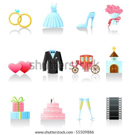 Set of  wedding icons. Part 2