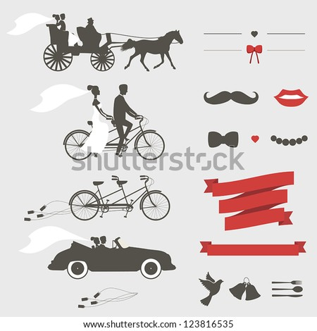 Shutterstock Set of wedding invitation vintage design elements, designers toolkit