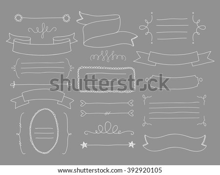 Drawing vector lines : Vector hand drawn love dividers download free art stock
