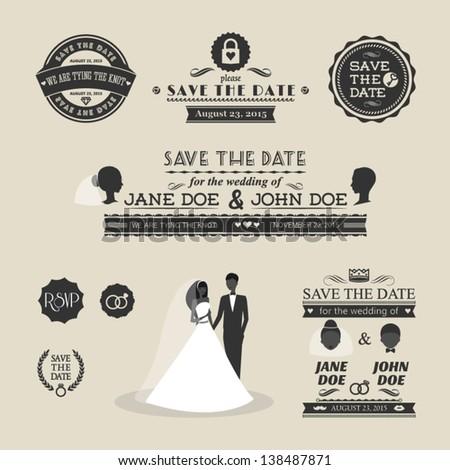 Wedding invitations typography futureclimfo wedding invitations typography for great invitation design stopboris Gallery