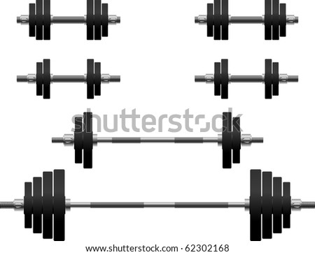 set of weights. second variant. vector illustration