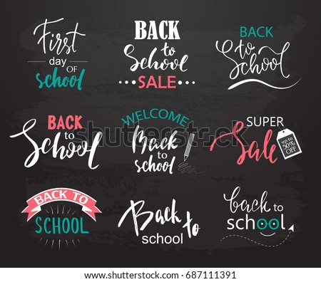 set of welcome back to school