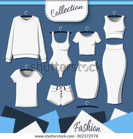set of white clothes to create