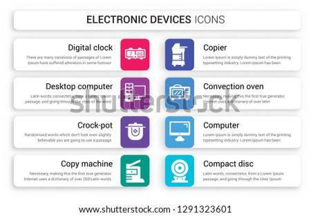 Vector Desktop Clock Icons - Download Free Vector Art, Stock