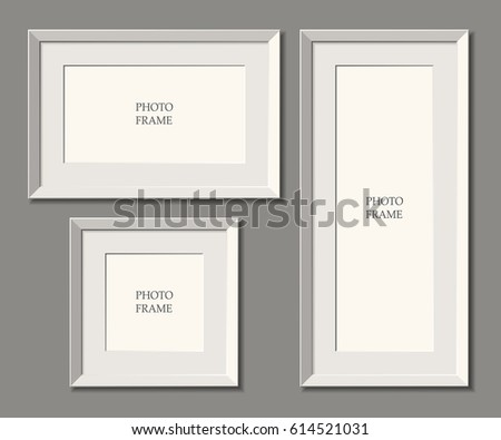 set of white frames wall