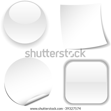 Set of white icon. Vector illustration. #39327574