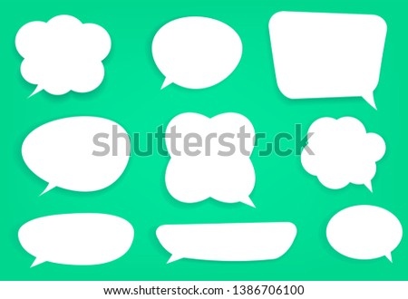 Set of white speech bubbles various forms.