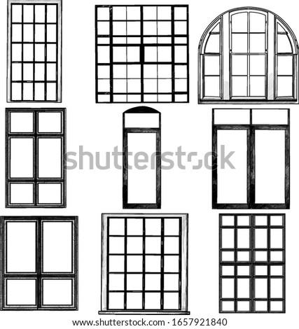 set of windows in loft style