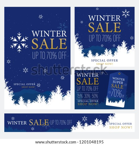 Set of Winter design for advertising, banners, leaflets and flyers.