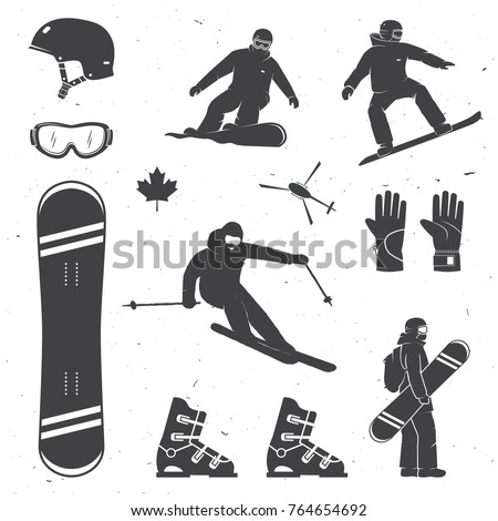 set of winter sports equipment