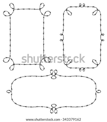 set of wire frame isolated on...