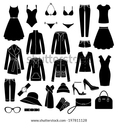 set of women's clothes and