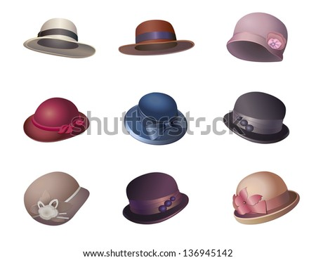 739122335d899 Women Hats Vectors - Download Free Vector Art