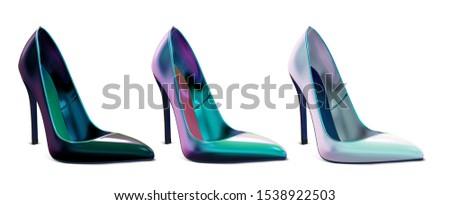 set of women's multicolor shoes