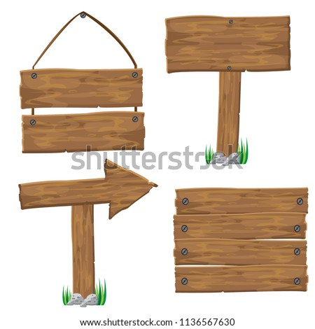 Set Of Wood Sign #1136567630