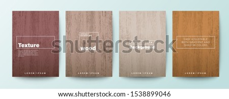 set of wood texture background