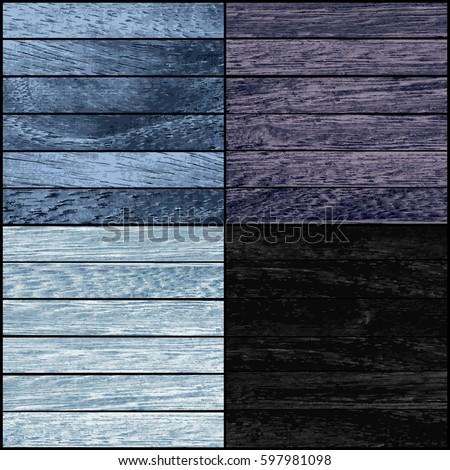set of wood texture vector