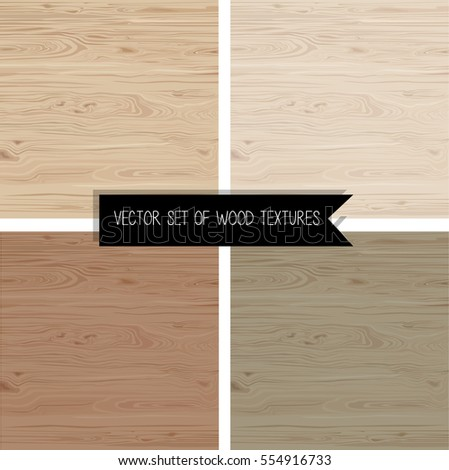 set of wood textures isolated