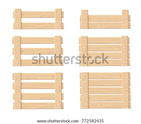 set of wooden box for