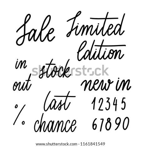 set of words for shop  sale