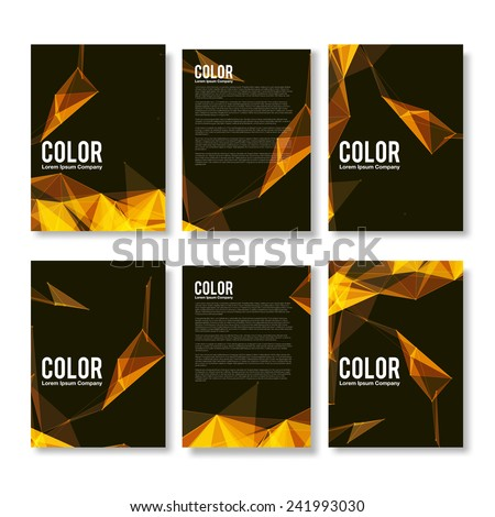 stock-vector-set-of-yellow-and-orange-modern-abstract-flyers-eps-brochure-design-templates