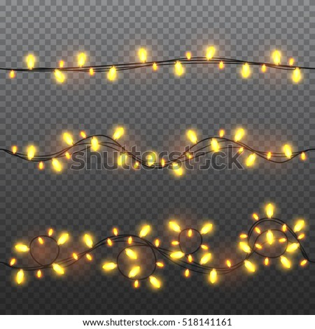 set of yellow garlands  festive