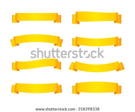 set of yellow ribbon banners