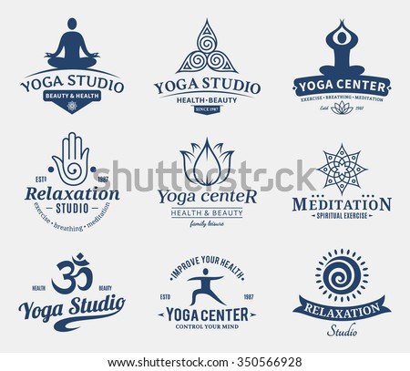 set of yoga studio and...