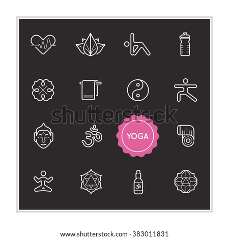 set of yoga vector illustration