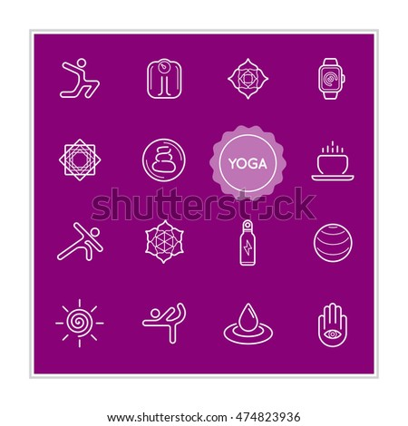 set of yoga vector illustration