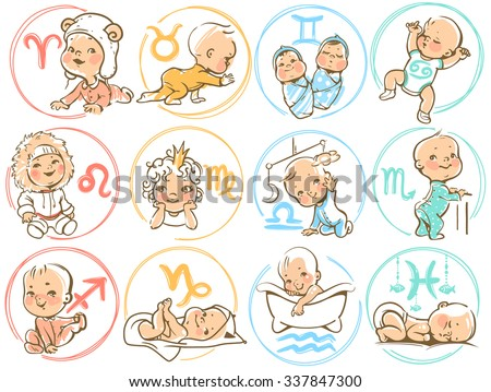 set of zodiac icons  horoscope