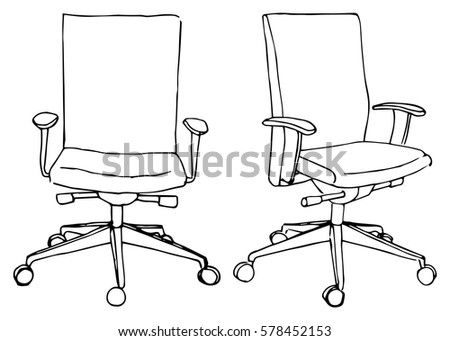 set office chairs isolated on white background sketch different chairs vector illustration isometric furniture vector collection l8 vector