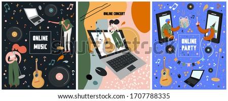 set online festival posters
